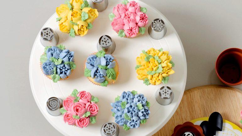 คัปเค้กดอกไม้ สวยหรูได้ดังใจ