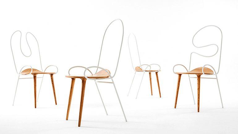 """Sylph Chair"" สัดส่วนที่ลงตัวของไม้และเหล็ก"