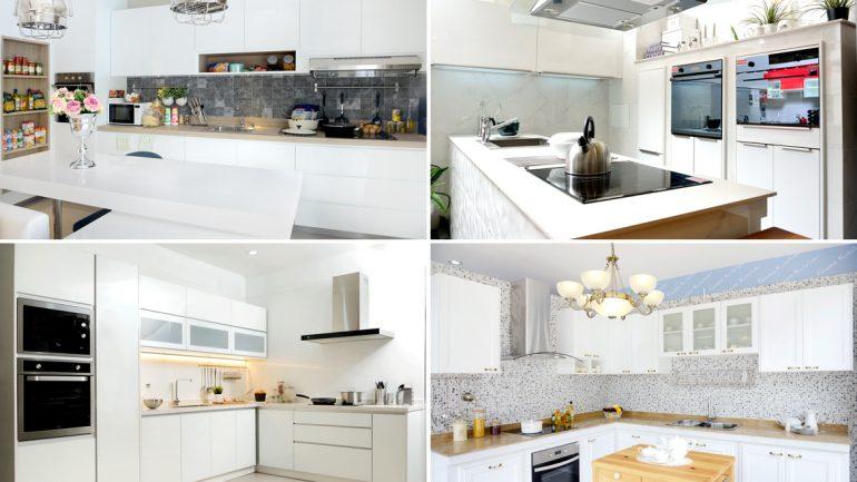 ชุดครัวสีขาว 4 แบบเข้ากับบ้านได้ทุกสไตล์