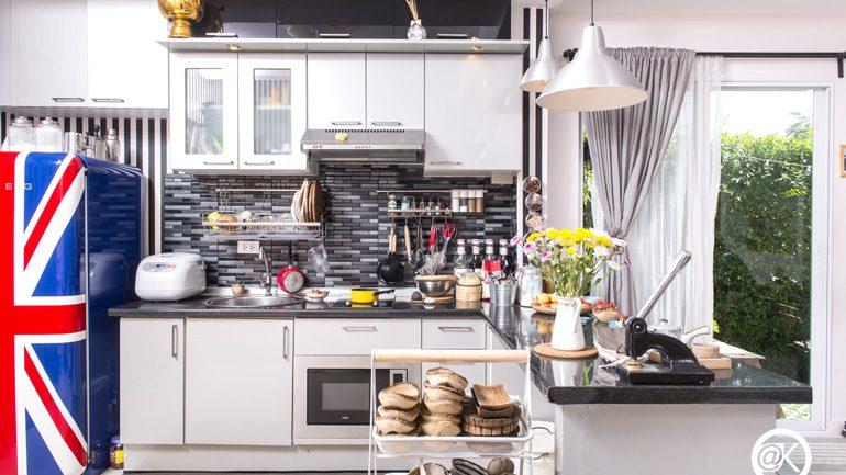 พาไปดูครัวสวยสไตล์โมเดิร์นวินเทจในบ้านทาวน์โฮม