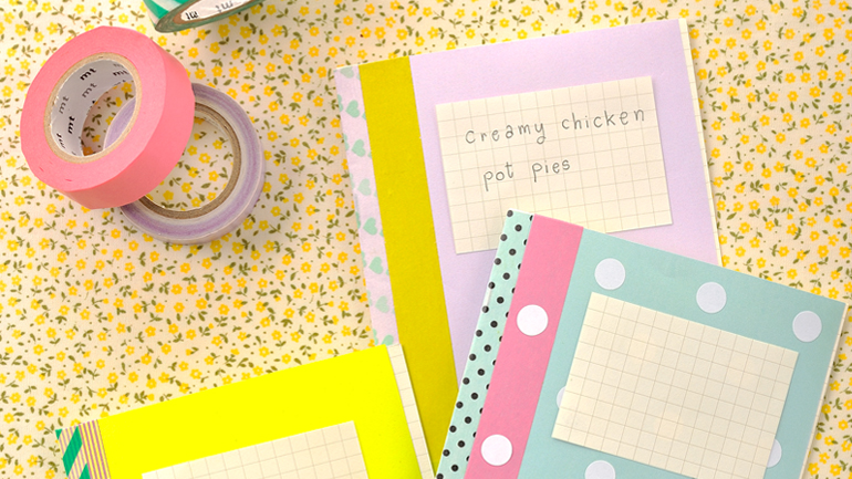 My Mini Notebook ทำสมุดโน๊ตเล่มสวยด้วยกระดาษสี