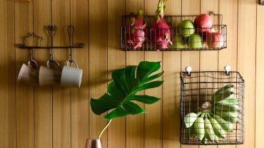 ดัดแปลงตะกร้าที่ไม่ใช้งาน มาเป็นที่เก็บวัตถุดิบในครัว