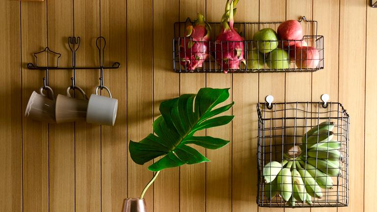 เปลี่ยนตะกร้าเหลือใช้มาเป็นที่เก็บของในครัวกันเถอะ