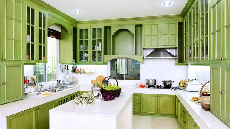 8 ไอเดีย แต่งครัวให้สวยเด้งด้วยสีโทนร้อนและเย็น