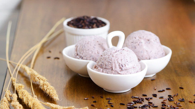 Feature rice berry ice cream