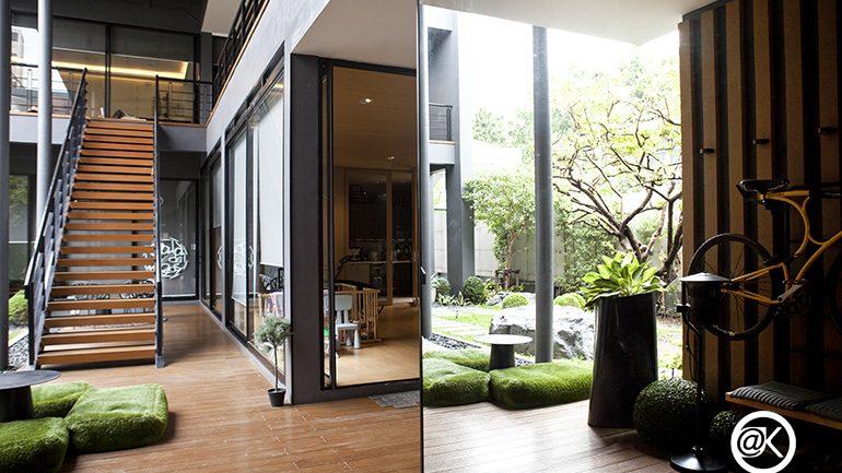 สร้างบ้านสไตล์ญี่ปุ่น แต่ปรับแบบให้เหมาะกับอากาศบ้านเรา