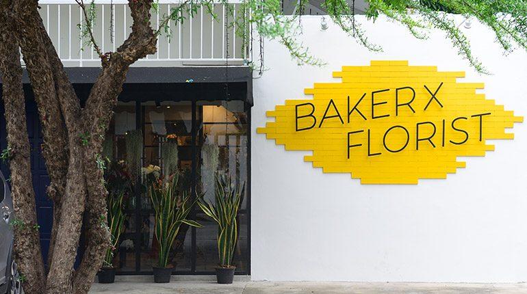 BAKERxFLORIST คาเฟ่คนรักขนมผสมความงามของดอกไม้