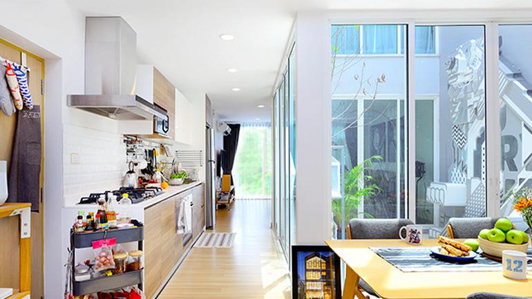 บ้านทาวน์โฮมหลังนี้ มีดีที่ห้องครัว