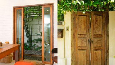 แต่งบ้านให้ดูอบอุ่นด้วยประตูไม้หลากดีไซน์