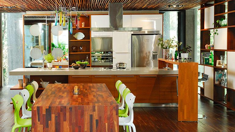 5 ไอเดียทำโต๊ะกินข้าวไว้ในครัว ไม่ต้องทำห้องเพิ่มให้เปลืองงบ