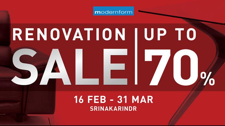Renovation Sale Upto 70%