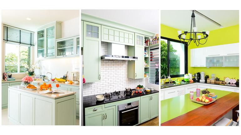 รวม 5 แบบครัวสวยหลายสไตล์ เอาใจคนชอบสีเขียว