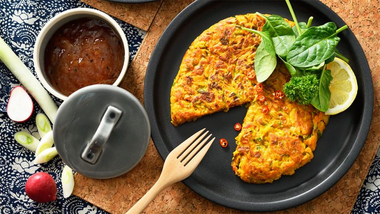 Carrot and Leeks Spice Pancake
