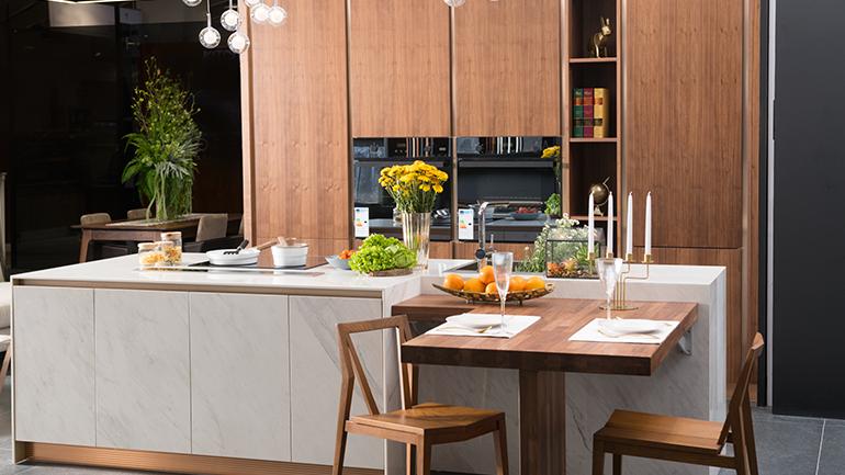ชุดครัวเล็ก 15 ตารางเมตร ใช้งานก็ดีเป็นมุมนั่งเล่นก็ได้