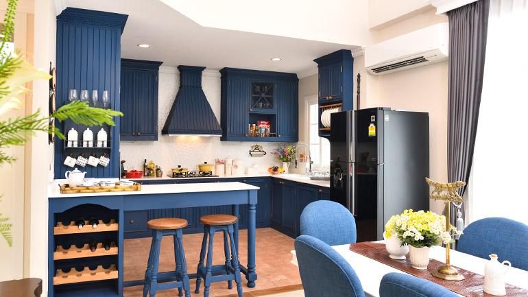 ชุดครัวสไตล์วินเทจ ดีไซน์สวย ใช้งานได้ทั้งครัวหนักครัวเบา