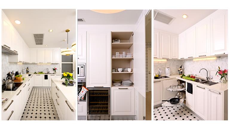 ตัวอย่างครัวสีขาวน่าใช้งาน ฟังก์ชันครบ ใช้ได้กับบ้านและคอนโดทุกสไตล์