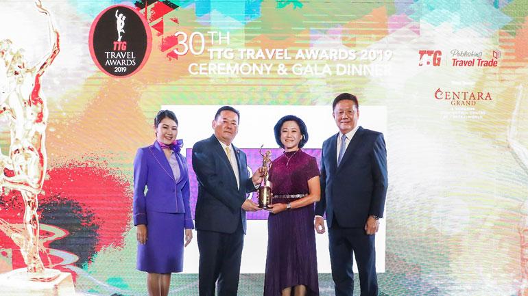 การบินไทยรับรางวัลจากงาน TTG Travel Awards 2019
